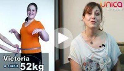 Victoria Minciună a slăbit 52 de kg