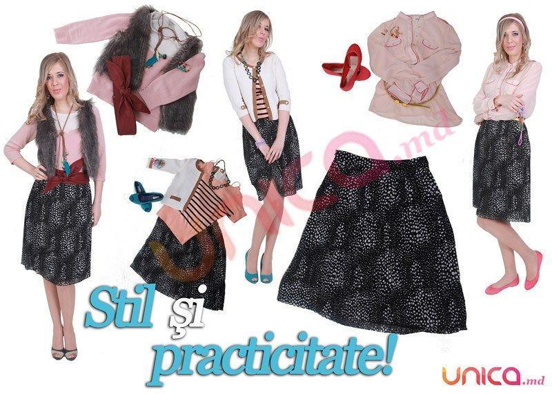 10 modalităţi  de a purta fusta plisată!