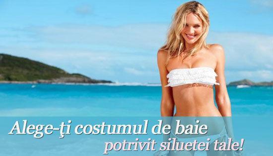 Foto: Alege-ţi costumul de baie potrivit siluetei tale!