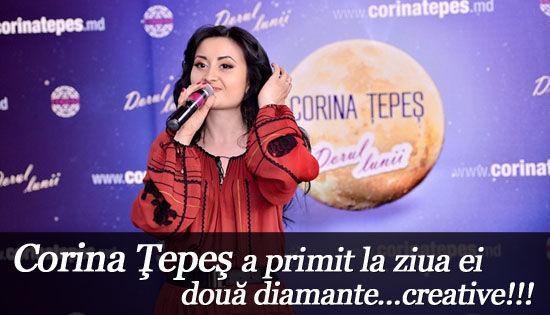 Foto: Corina Ţepeş a primit la ziua ei două diamante…creative!!!