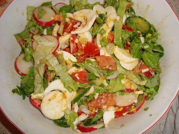 Salată verde cu ou!