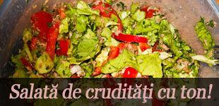 Foto: Salată de crudităţi cu ton!