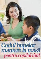 Foto: Codul bunelor maniere la masă pentru copilul tău!