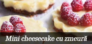 Foto: Mini cheesecake cu zmeură