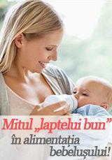 """Foto: Mitul """"laptelui bun"""" în alimentația bebelușului!"""