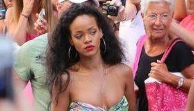 Ţinută de mare divă! Uite-o pe Rihanna cum a defilat DOAR ÎN SUTIEN pe străzile din St. Tropez!