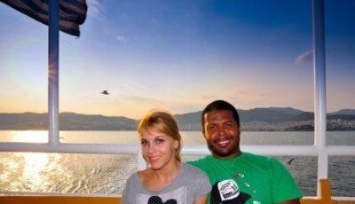 Cabral şi Andreea Pătraşcu, vacanţă în Grecia