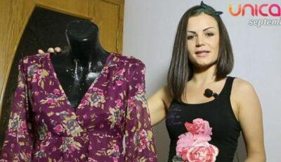 O fustă stilată dintr-o rochie demodată!