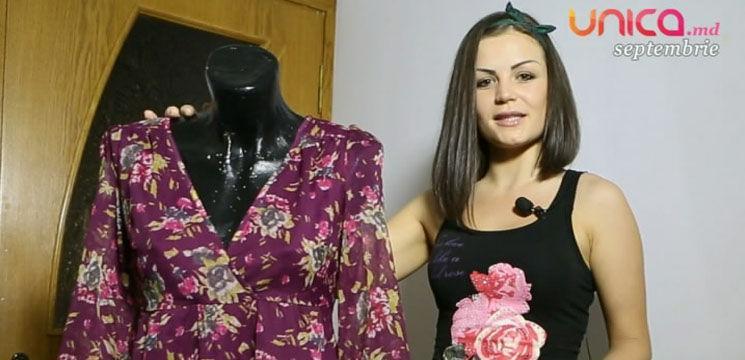 Foto: O fustă stilată dintr-o rochie demodată!