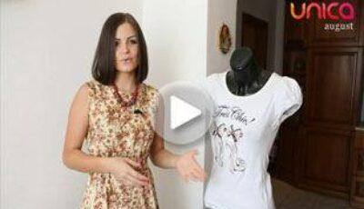Învață cum să trasformi un tricou obișnuit în unul chic!