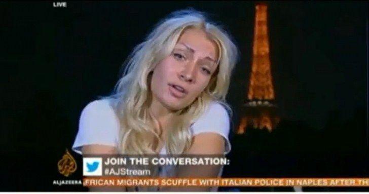 S-a dezbrăcat de haine în direct Al Jazeera!