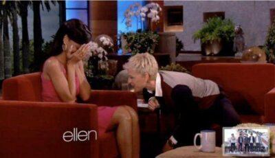 Rihanna a roșit  în obraji de rușine