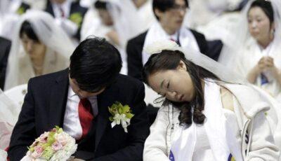 3500 cupluri din Coreea s-au căsătorit în același timp (17 poze)