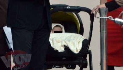 Vezi primele imagini de la botezul fiicei lui Mihai Petre! Cât de bine arată soția lui la 3 luni după naștere