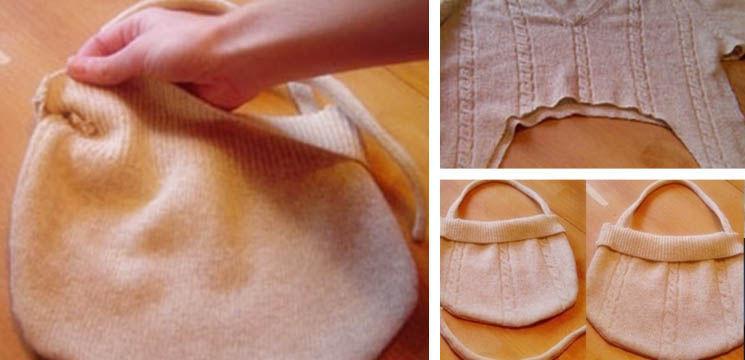 Foto: Transformă puloverul vechi într-o gentuță nouă!