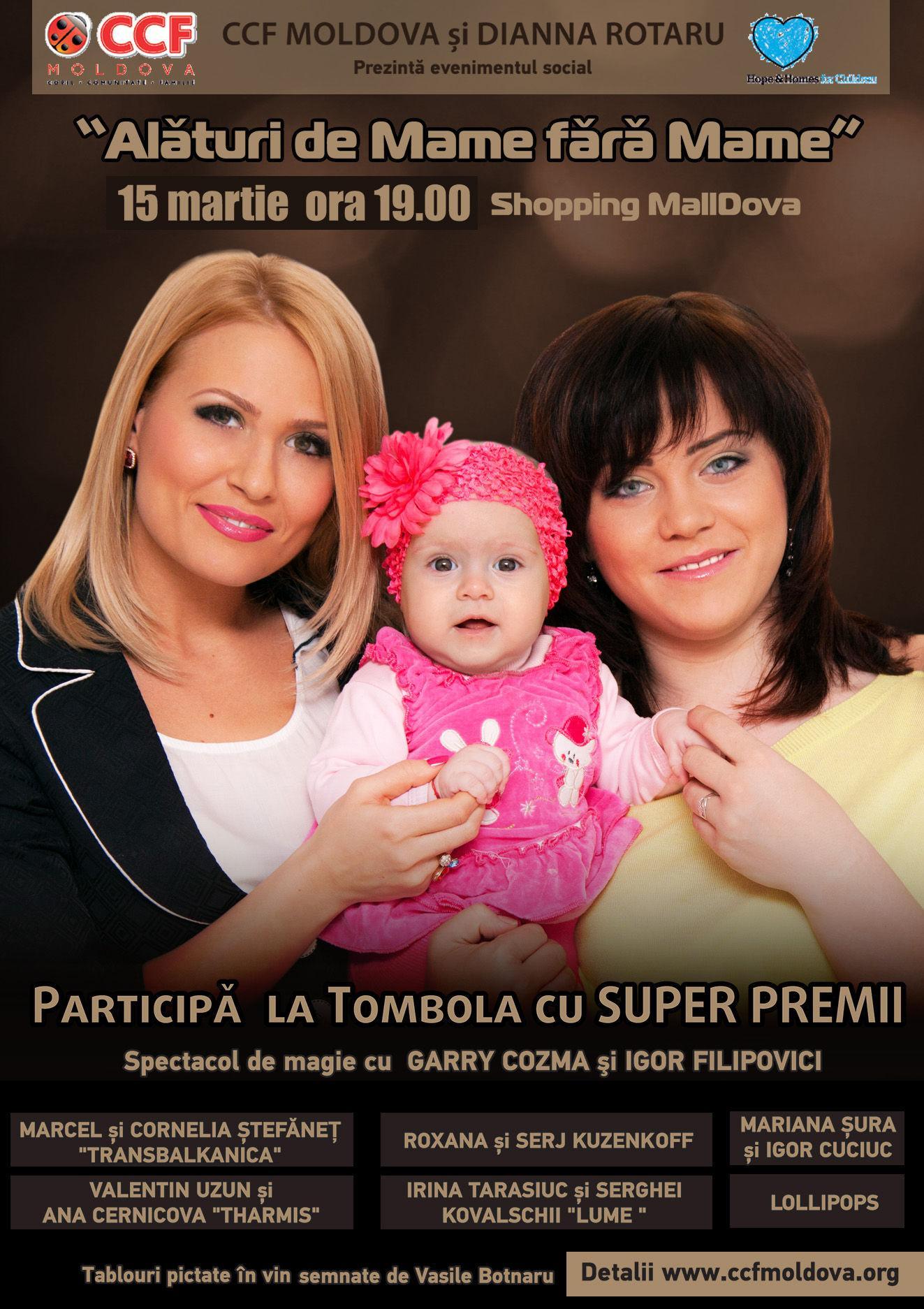 """Foto: Vino """"Alături de Mame fără Mame""""!"""