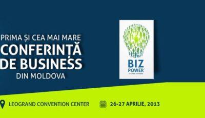 Lansarea proiectului BIZPOWER – prima și cea mai mare conferință de Business din MOLDOVA