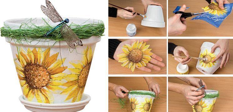 Foto: Decorează cu stil ghiveciul de flori (master class)