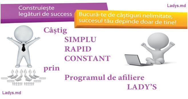 Lady's a lansat cel mai avantajos program de afiliere!
