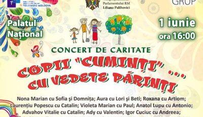 """Vino cu noi la concertul de caritate – """"Copii cuminți… cu vedete părinți""""!"""