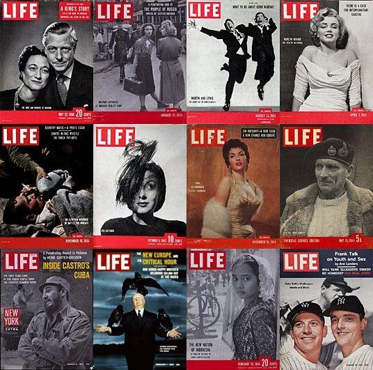 "Poze  celebre ale legendarei reviste ""Life"""