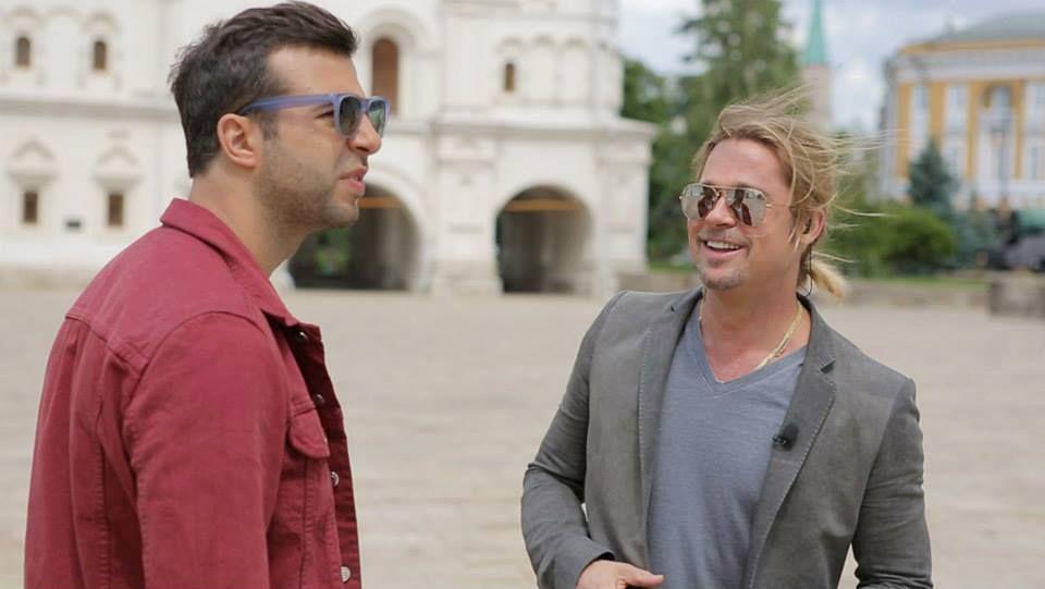 Ivan Urgant îi arată lui Brad Pitt Moscova! (Foto și Video)