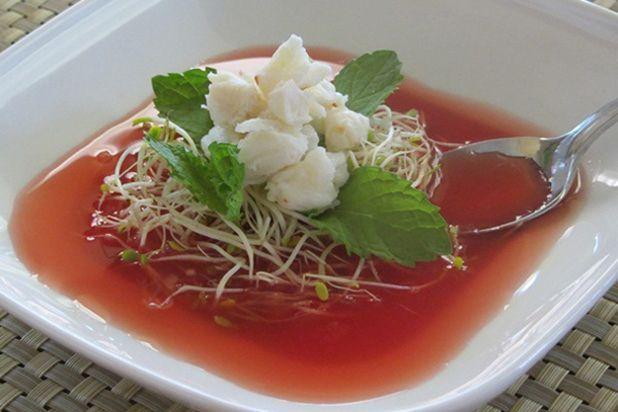 Supa de pepene verde cu homar