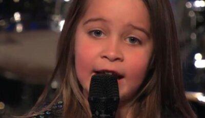 Are doar şase ani, dar cântă ca un ROCKER