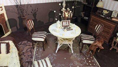 Așa arată camera realizată în întregime din ciocolată