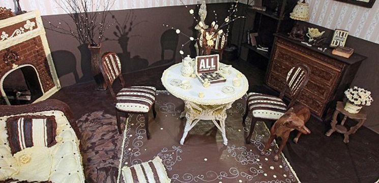 Foto: Așa arată camera realizată în întregime din ciocolată
