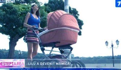 Lilu, la plimbare cu micuța Amelie!