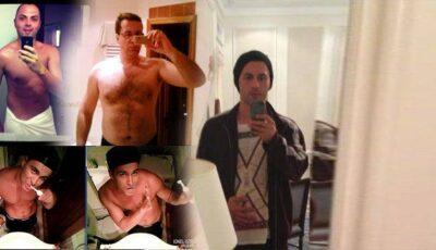 Și lui Dan Bălan îi place să-și facă poze în oglindă!