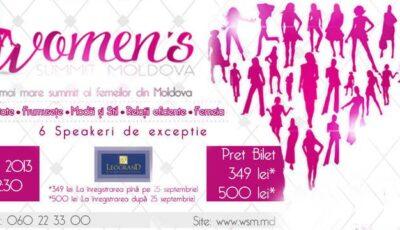 Invitație la cel mai mare summit al femeilor din Moldova!