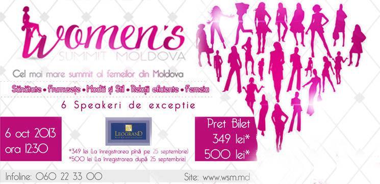 Foto: Invitație la cel mai mare summit al femeilor din Moldova!