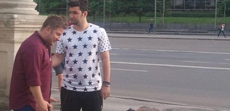 Smiley şi Pavel Bartoș fac probe în centrul Chişinăului