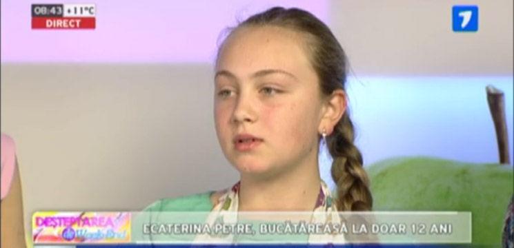 Ecaterina Petre, la doar 12 ani, face minuni la bucătărie!