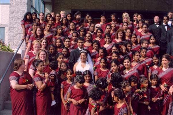 Nunta cu 200 de domnisoare de onoare
