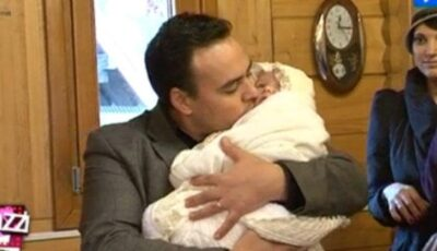 Lilu și-a botezat fetița