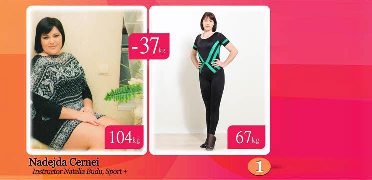 Nadejda Cernei: Arată ca un model, deși, acum 9 luni  cântărea 103 kg!