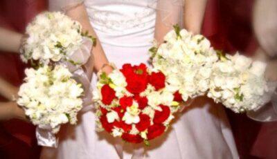 Buchetul miresei pentru o nuntă cu zăpadă