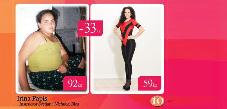 "Irina Papiș, sau ""pampuşca"" care a dat jos 33 de kg!"