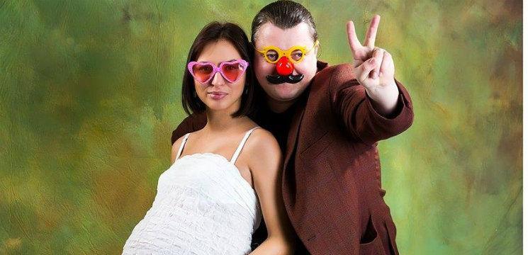 Soția lui Valy Boghean în ultimul termen de sarcină