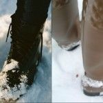 Foto: Cum să ştergi petele de pe cizme, lăsate de zăpadă?