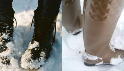 Cum să ştergi petele de pe cizme, lăsate de zăpadă?