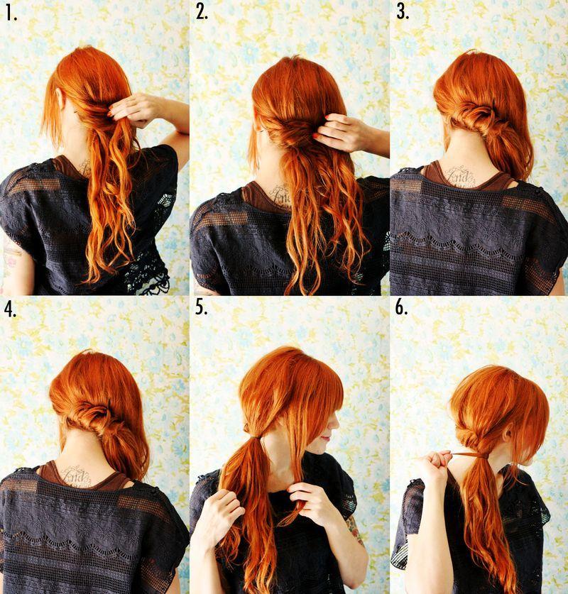 прикольные прически для длинных волос на каждый день