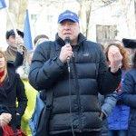 """Foto: Prezentatorii Jurnal TV scandează: """"Libertate Presei!!!"""""""