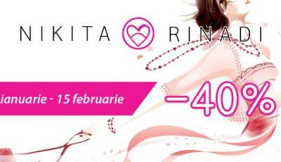 40 % reducere în magazinele Nikita Rinadi!