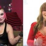 Foto: Schimbare radicală de look: Din femeie punk într-o tânără atrăgătoare!