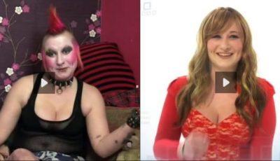 Schimbare radicală de look: Din femeie punk într-o tânără atrăgătoare!
