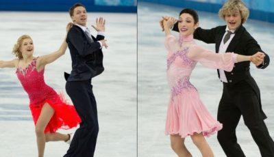 Patinatoarele  fac show în costumele de la Olimpiadă!
